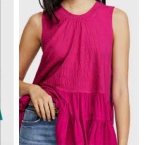 Free People RIGHT ON TIME Tunic Top Sz M-L NWOT